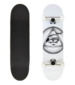"LUCID COMPLETE SKATEBOARD "" THE EYE"""