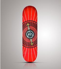 LUCID - DECK -  RED EYE + GRIP TAPE