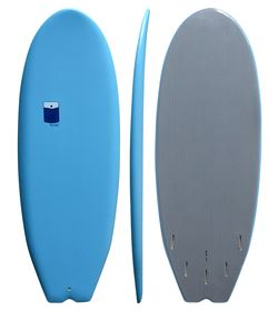 POCKET SOFTBOARD 5'0 BLUE SQUASH SWALLOW - FCS compatible