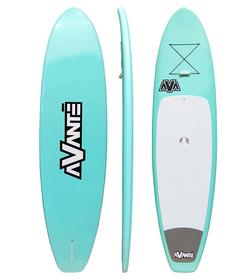 AVANTE POLY SUP 10'6 SEA GREEN + PADDLE + FIN & BUNGEE CORD