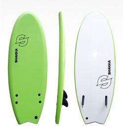SHAKKA SOFTBOARD FISH GREEN 4'11""