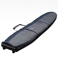 9'2 LONGBOARD DOUBLE COVER WHEELED COFFIN
