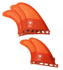 MODII - LOADED FUTURE 5 FIN SET (Medium fins) Orange